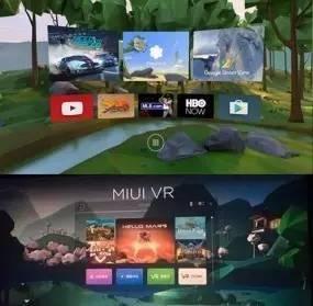 DayDream(上)MIUI VR(下)