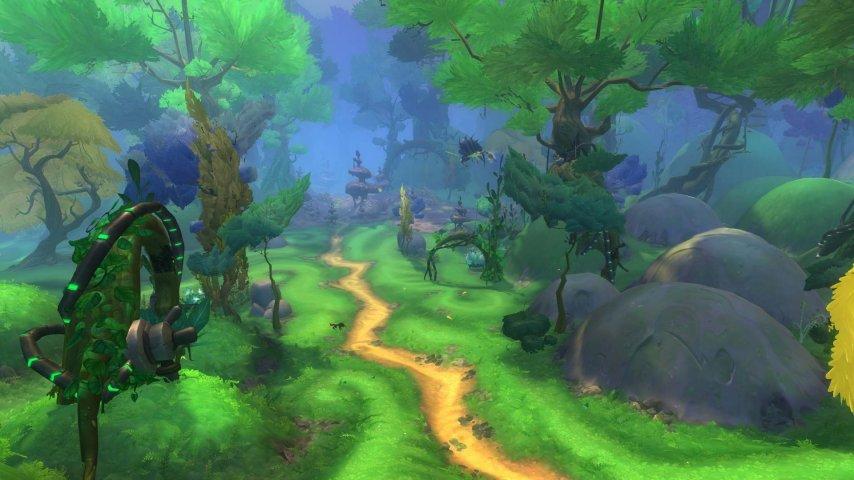 绿草如茵的永星森林是奥林降落后的主要居住地
