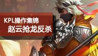 王者荣耀KPL赵云操作集锦 XQ一换四抢龙反杀