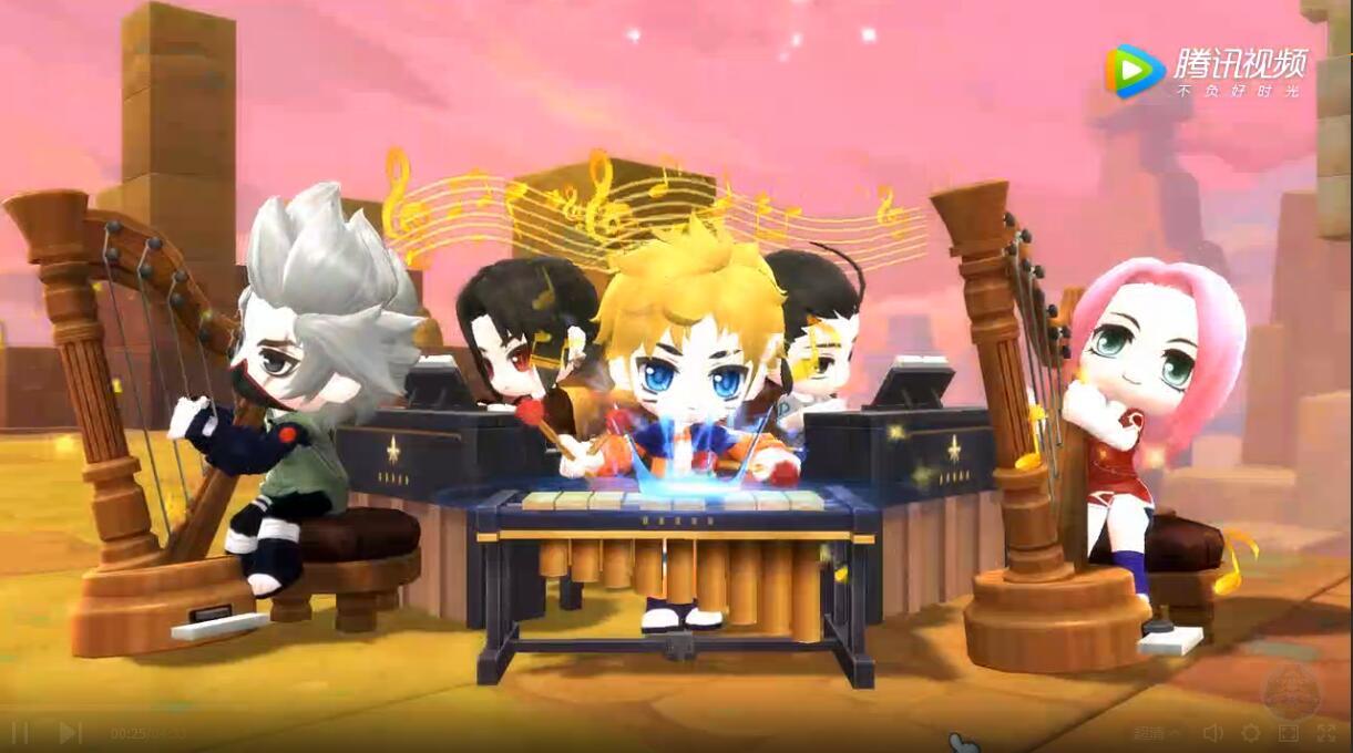 岛2玩家致敬火影 超萌的鸣人雏田婚礼