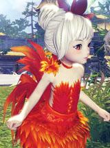 剑灵美女版主原创模型 灵族女火鸟时装