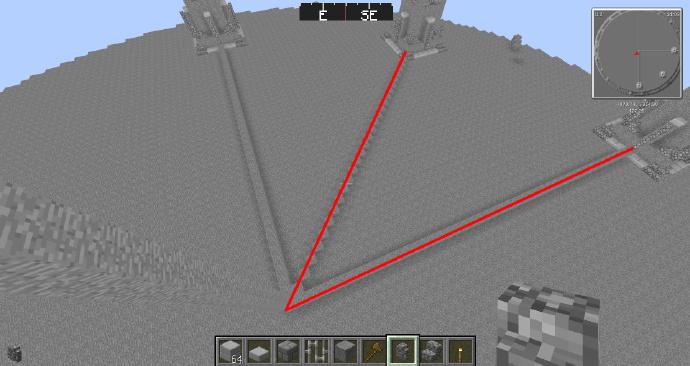 如何在我的世界中画出45°角的角平分线