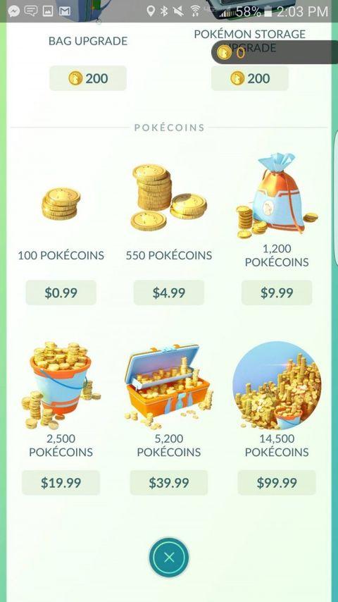 Pokemon go精灵宝可梦GO金币怎么获得 充值系统介绍