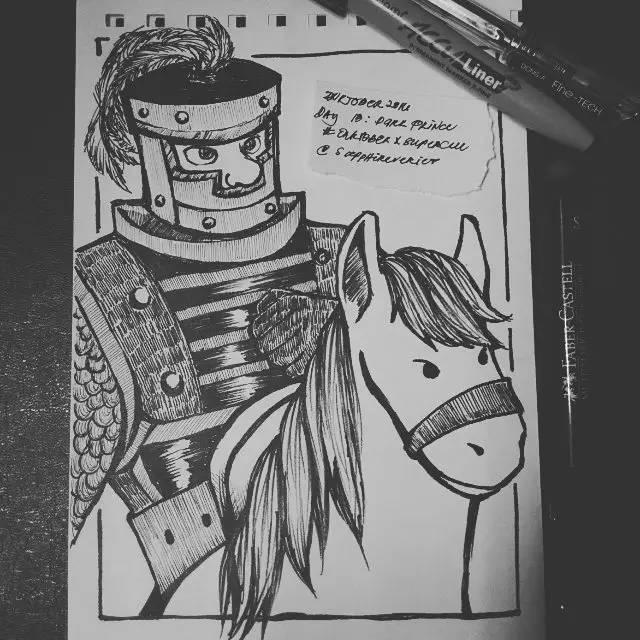 玩家画作:黑白皇室战争人物手绘作品