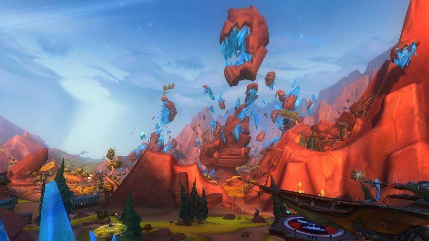 飘在空中的反重力水晶矿山可不是地球上能看到的场面