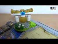 玩家乐高积木搭建《炉石传说》对战场景