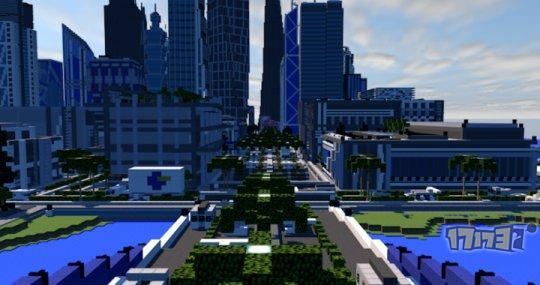 摩登大都市 我的世界pc版地图存档下载:uie city