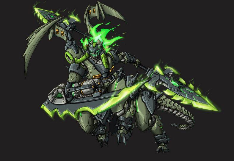 魔兽玩家原创作品:机械化的深渊领主奥丽莎
