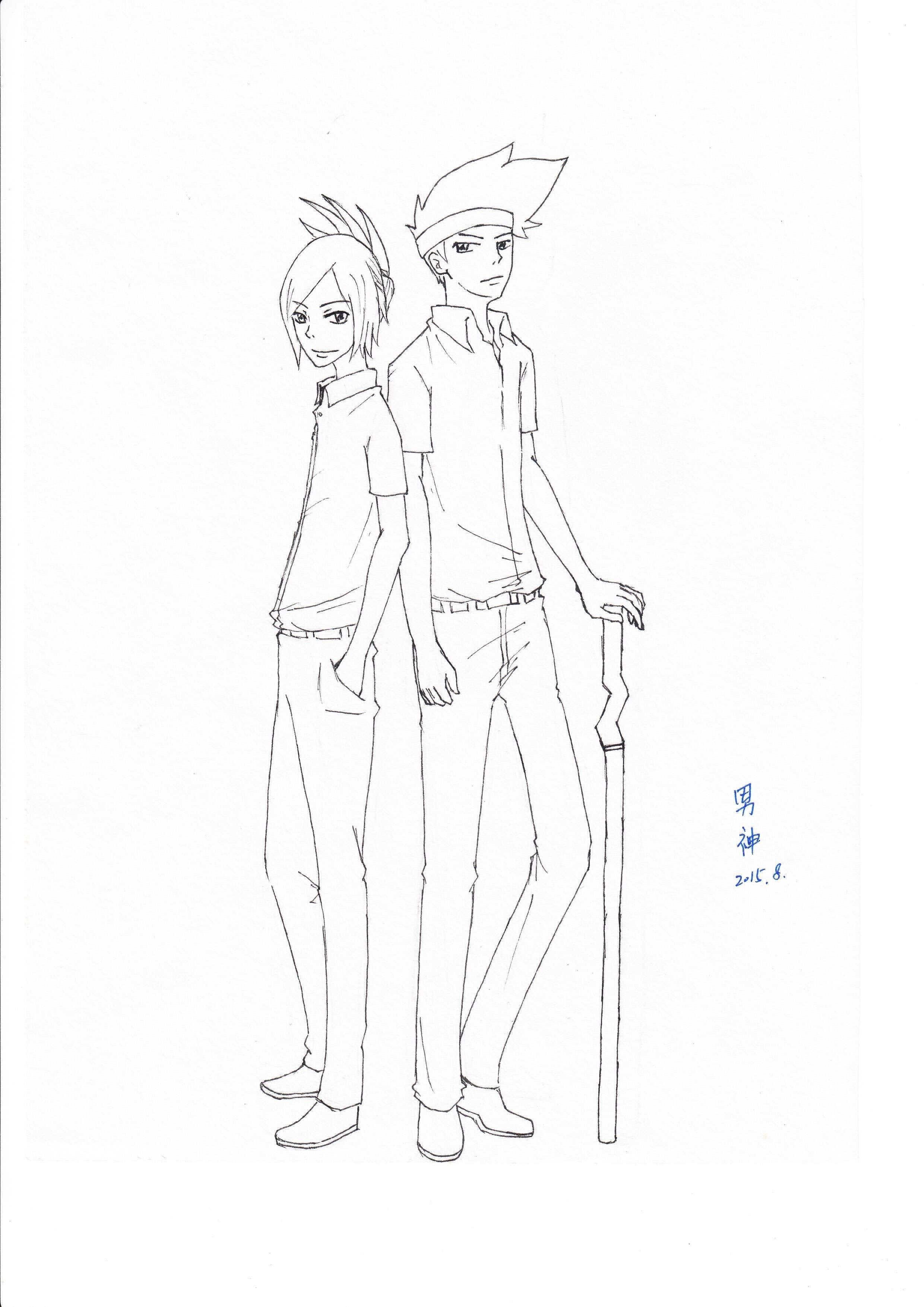 【手绘】火影忍者ol男神新作:五主手绘时装秀