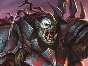 玩家原创画作:傲立于山头上的兽人督军