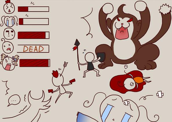 玩家有爱手绘四格——猪队友之灵墟