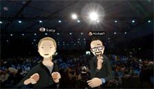 Facebook CEO扎克伯格演示VR新社交