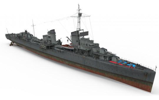 1�x�Z���_z系列始祖:七级德国驱逐舰z-1型数据曝光