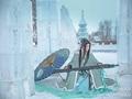 剑网三雪河琴爹cos 雪地里的青鸟