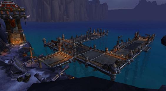 指挥官的镇守府:6.2要塞新设施船坞图片,部落和联盟的船坞依旧延图片