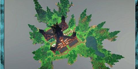 我的世界悬浮的小岛 奥美拉的空中花园存档