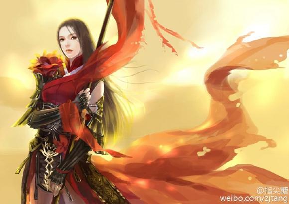 剑网3玩家手绘图 唯美古风演绎各门派