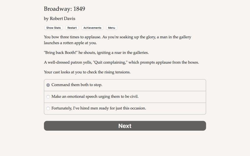 百老汇:1849年截图第1张