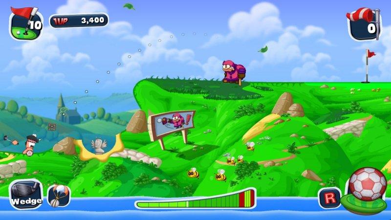 蠕虫疯狂的高尔夫球截图第4张
