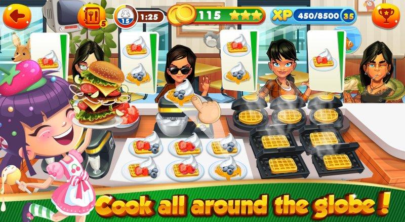 女孩烹饪游戏 食品厨师餐厅截图第2张