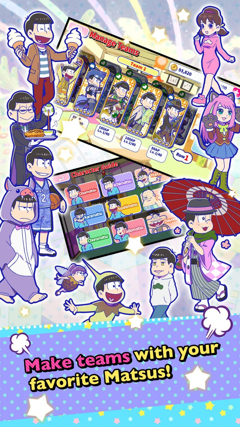 Osomatsu-san Hesokuri Wars~Battle of the NEETs~截图第3张
