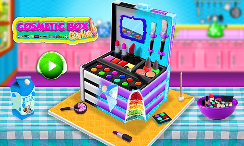 公主化妆盒蛋糕制造商!烹饪游戏截图第1张