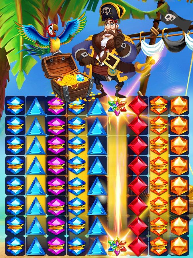 海盗战争:宝石匹配⚓截图第3张