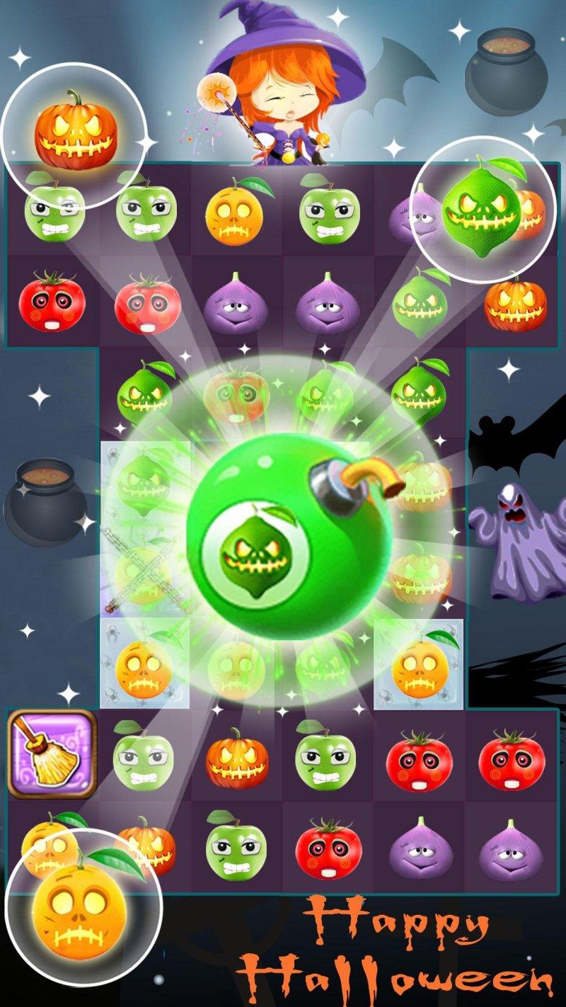 Fruit Halloween Match 3截图第1张