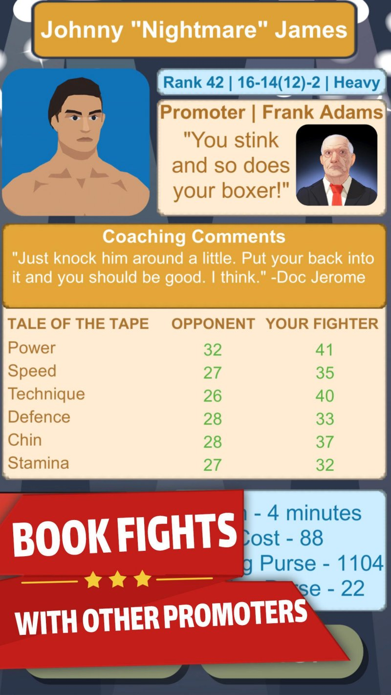 Boxing Promoter - Fighter Management Simulator截图第2张