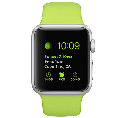 Apple Watch Sport 38毫米 铝金属表壳 运动表带