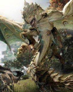 《怪物猎人OL》怪物原画