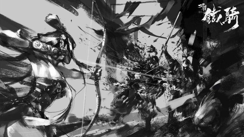 《刀锋铁骑》黑白原画第4张