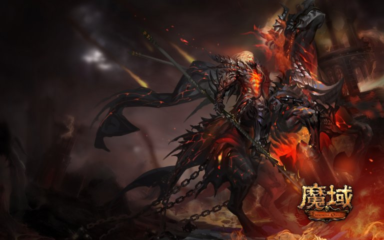 《魔域》暗黑龙骑妖魅壁纸第4张