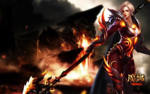 《魔域》暗黑龙骑妖魅壁纸第1张