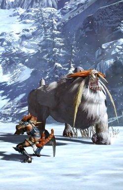 《怪物猎人OL》雪狮子王高清截图