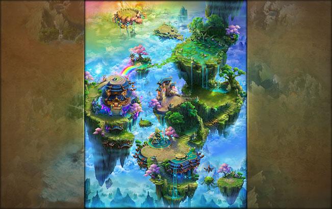 《百战天下》地图场景原画