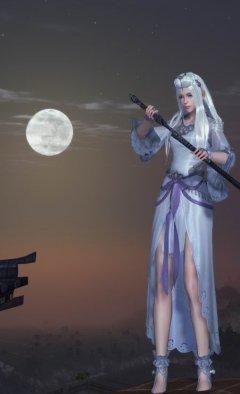 《天涯明月刀》中秋白发套