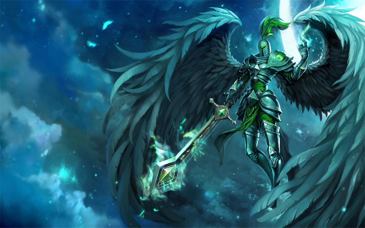 堕落天使莫甘娜壁纸_英雄联盟审判天使壁纸_英雄联盟审判天使壁纸高清图片