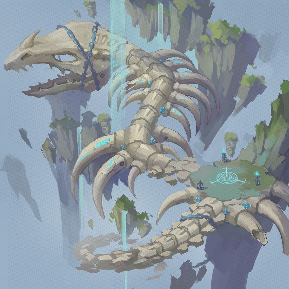 《风暴大陆》游戏场景原画