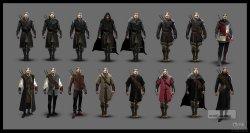 《巫师3:狂猎》早期设定图-杰洛特