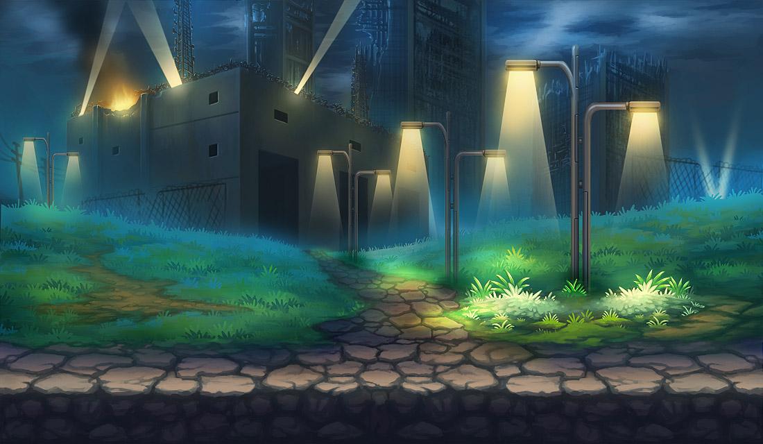《魂斗军团》游戏场景原画