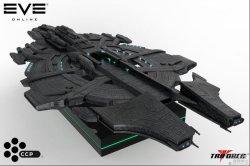 《EVE》夜神级磁悬浮舰船模型
