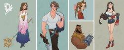 迪士尼风《最终幻想》人设图