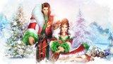 《诛仙3》新版圣诞时装节庆壁纸