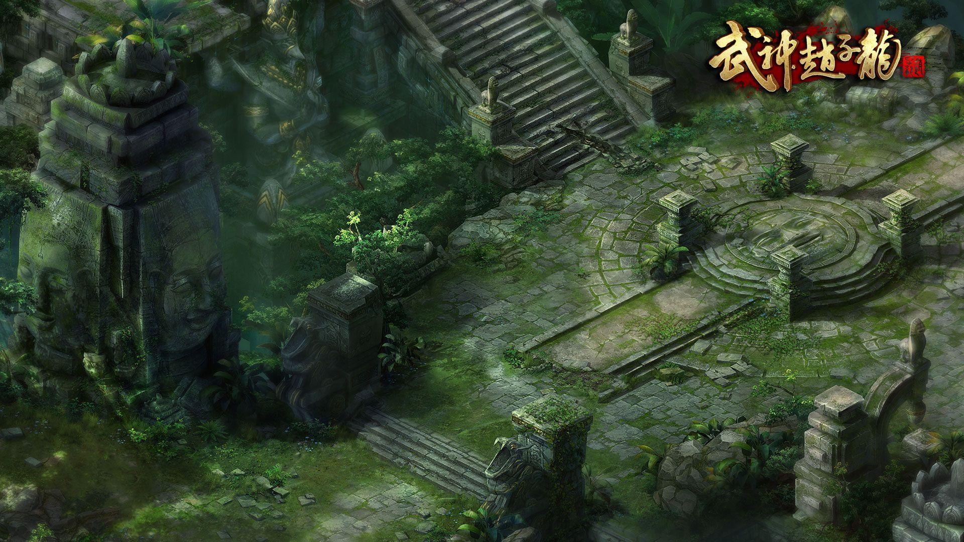 《武神赵子龙》游戏场景原画