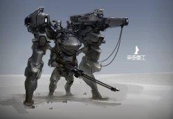 威猛机甲造型酷毙概念画欣赏