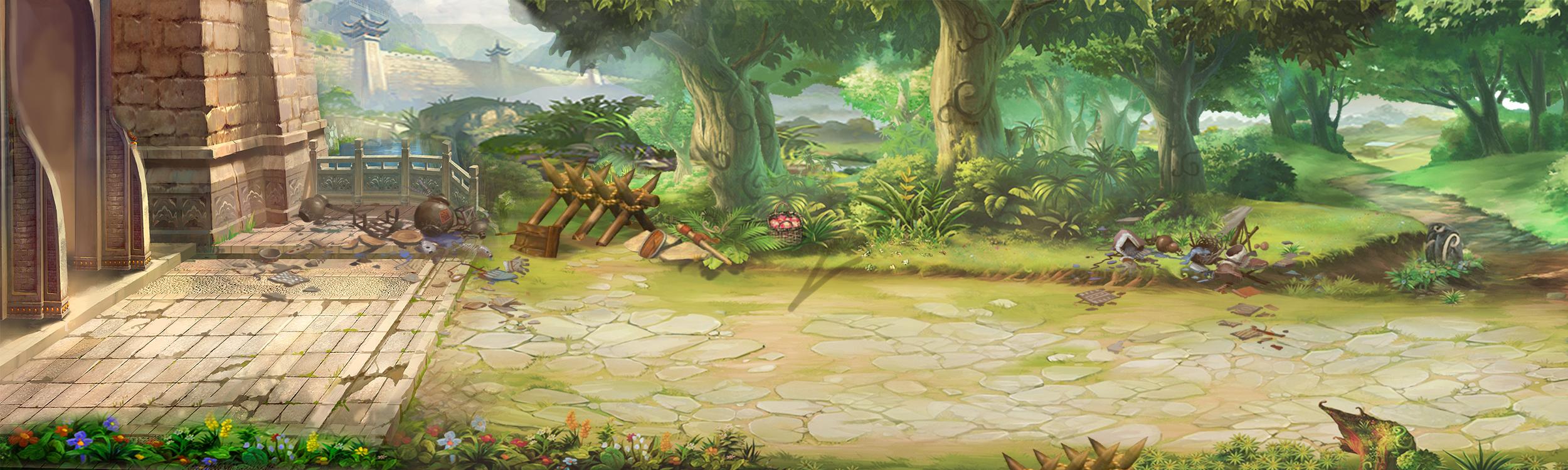 《武斗三国》游戏场景原画欣赏