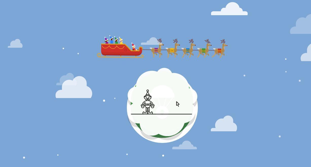 《Google追踪圣诞老人》游戏截图