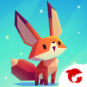 小狐狸 - 唯美音乐六边形跑酷小游戏