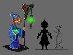神仙与妖怪-游戏原画